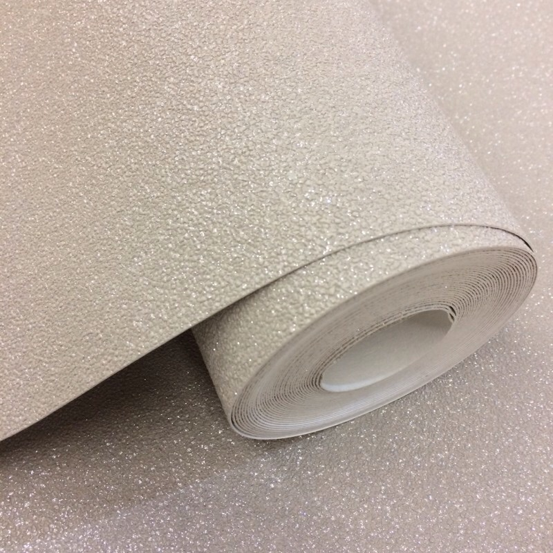 CARAT PLAIN TEXTURED GLITTER SOFT TAUPE WALLPAPER