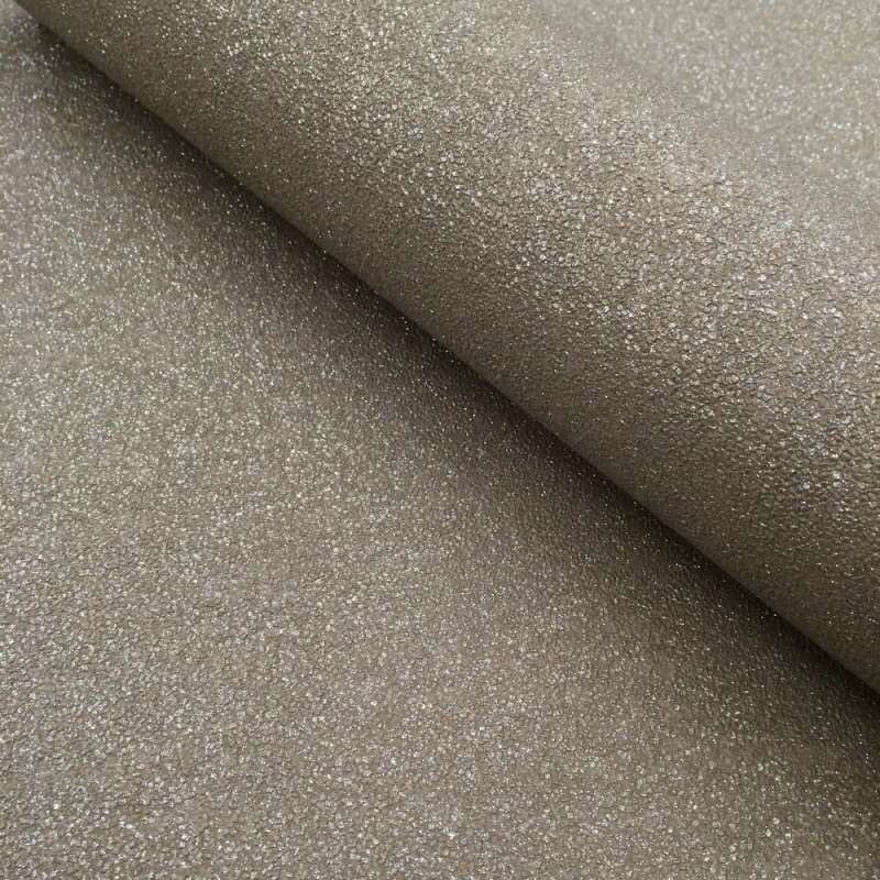 CARAT PLAIN TEXTURED GLITTER CHAMPAGNE GOLD WALLPAPER