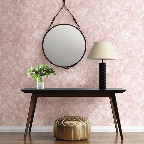MERCURY GLASS PINK DISTRESSED METALLIC