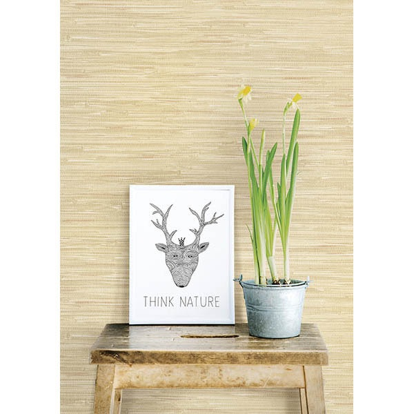 NATALIE TAUPE FAUX GRASSCLOTH
