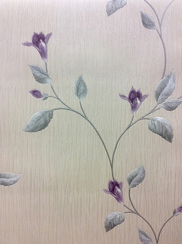 TUSCANY FLORAL PURPLE/CREAM
