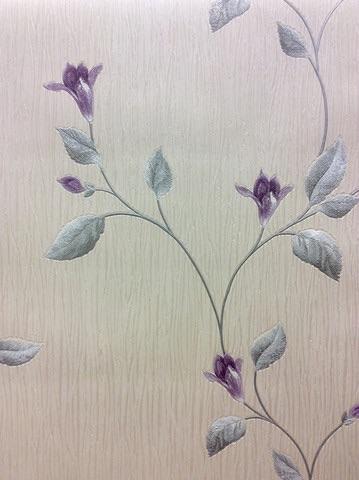 TUSCANY FLORAL PURPLE/CREAM