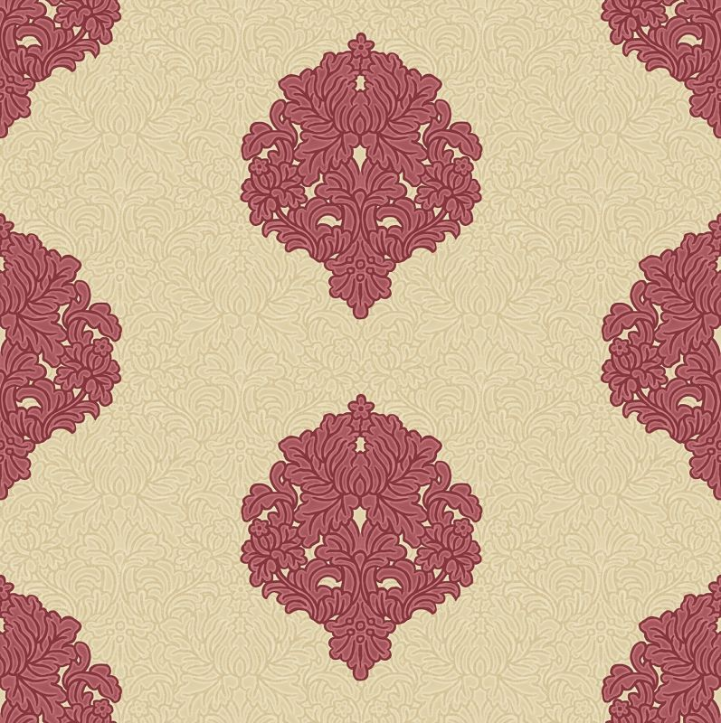 FLORIANA DAMASK BEIGE RED