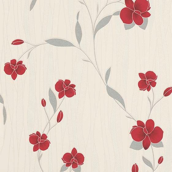 ORCHID RED FLORAL WALLPAPER