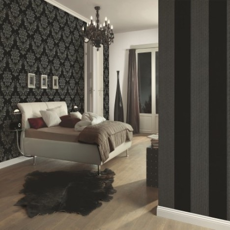 PS GLAMOUR BLACK/SILVER DAMASK