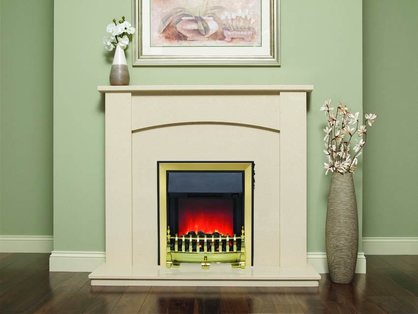 ALLEGRA WHITE/BLACK  MICRO MARBLE SURROUND