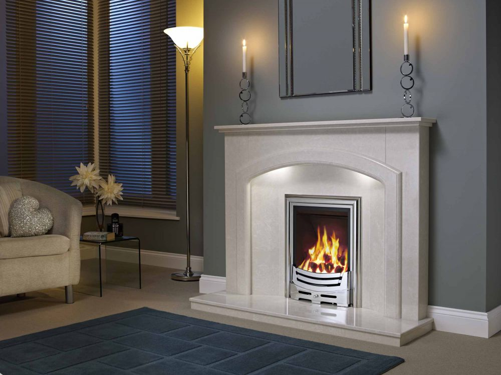 ANDORRA MICRO MARBLE SURROUND WITH LIGHTS