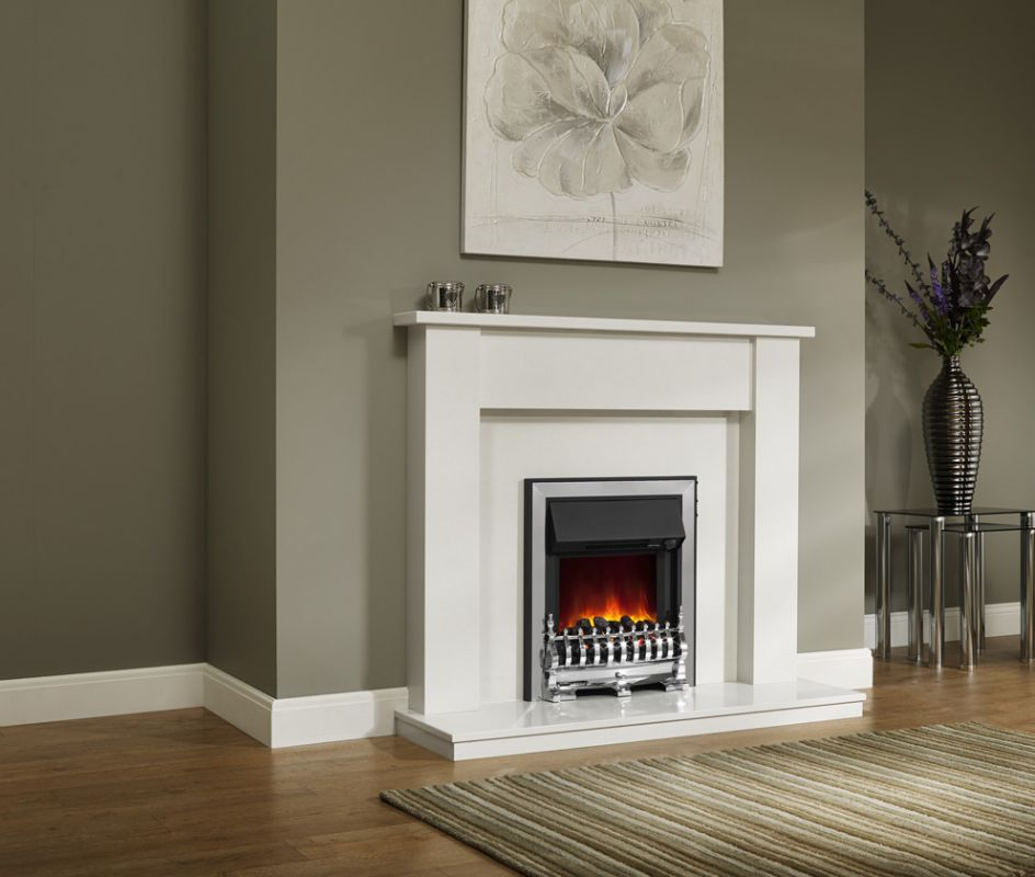 ELDA WHITE/BLACK MICRO MARBLE SURROUND