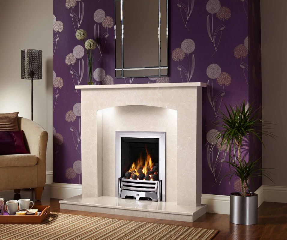 ISABELLE MRFIL MICRO MARBLE SURROUND WITH LIGHTS