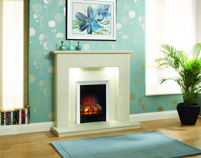 VALENCIA MANILA MICRO MARBLE SURROUND WITH LIGHTS