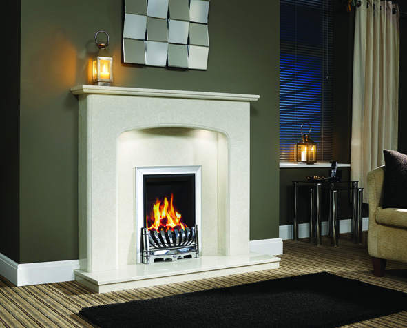 VIOLA MANILA MICRO MARBLE SURROUND WITH LIGHTS