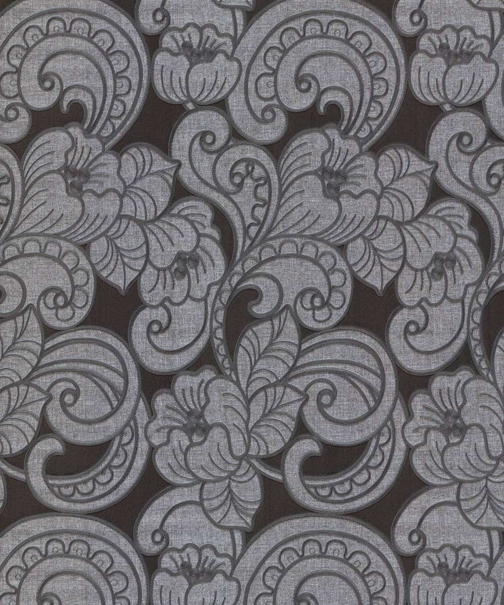 TRIESTE FLORAL CHARCOAL