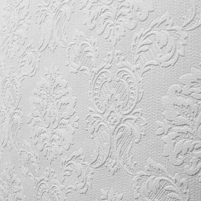 FINE DECOR PURE WHITES PAINTABLE TEXTURE WALLPAPER