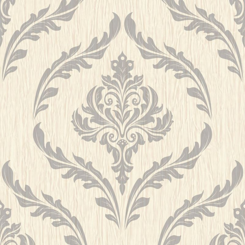 CRYSTAL FLORAL LEAF DAMASK PATTERN WALLPAPER GLITTER MOTIF TEXTURED