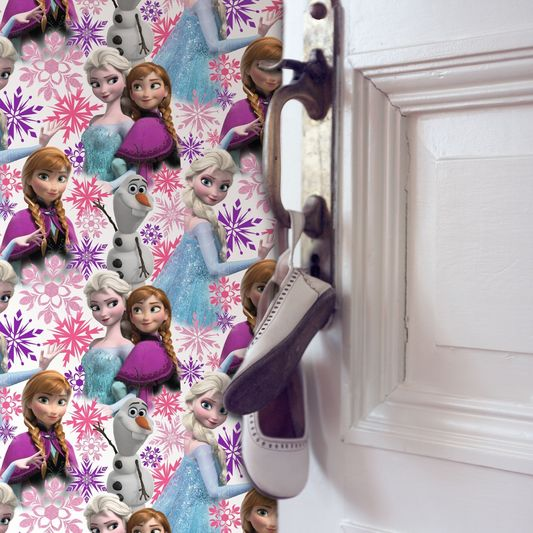FROZEN ANNA, ELSA AND OLAF PINK SHIMMER WALLPAPER
