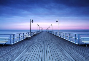 PIER AT THE SEASIDE