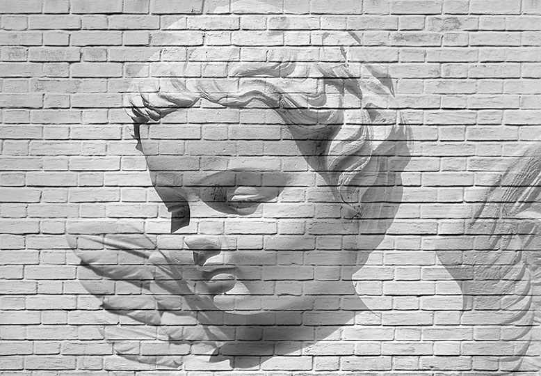 ANGEL BRICK WALL