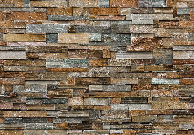 COLOURFUL STONE WALL