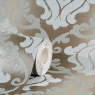 OMEGA DAMASK CHOCOLATE GLITTER WALLPAPER
