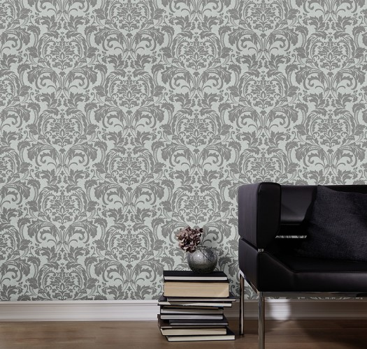 KRETSCHMER DELUXE WALLPAPER DAMASK GLASS BEADS