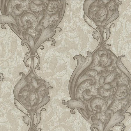 STUDIO LINE OPULENT TAUPE DAMASK WALLPAPER