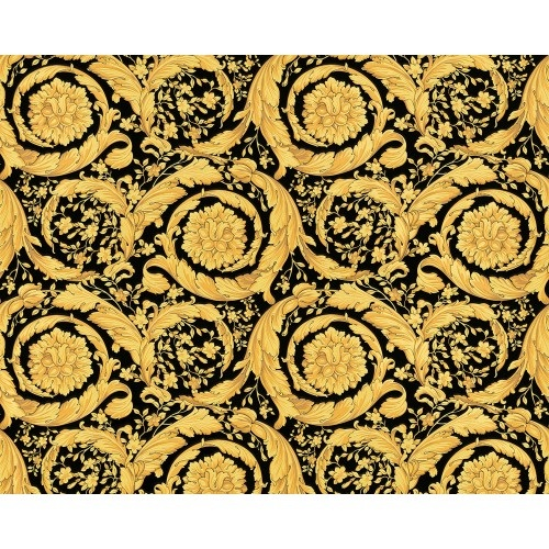 VERSACE BAROCCO FLOWERS  GOLD/BLACK