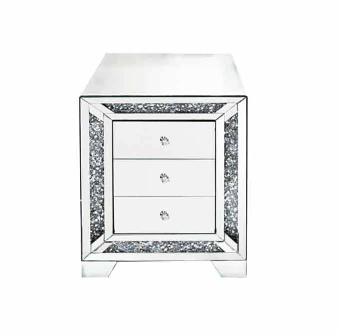 CRUSHED DIAMOND BEDSIDE