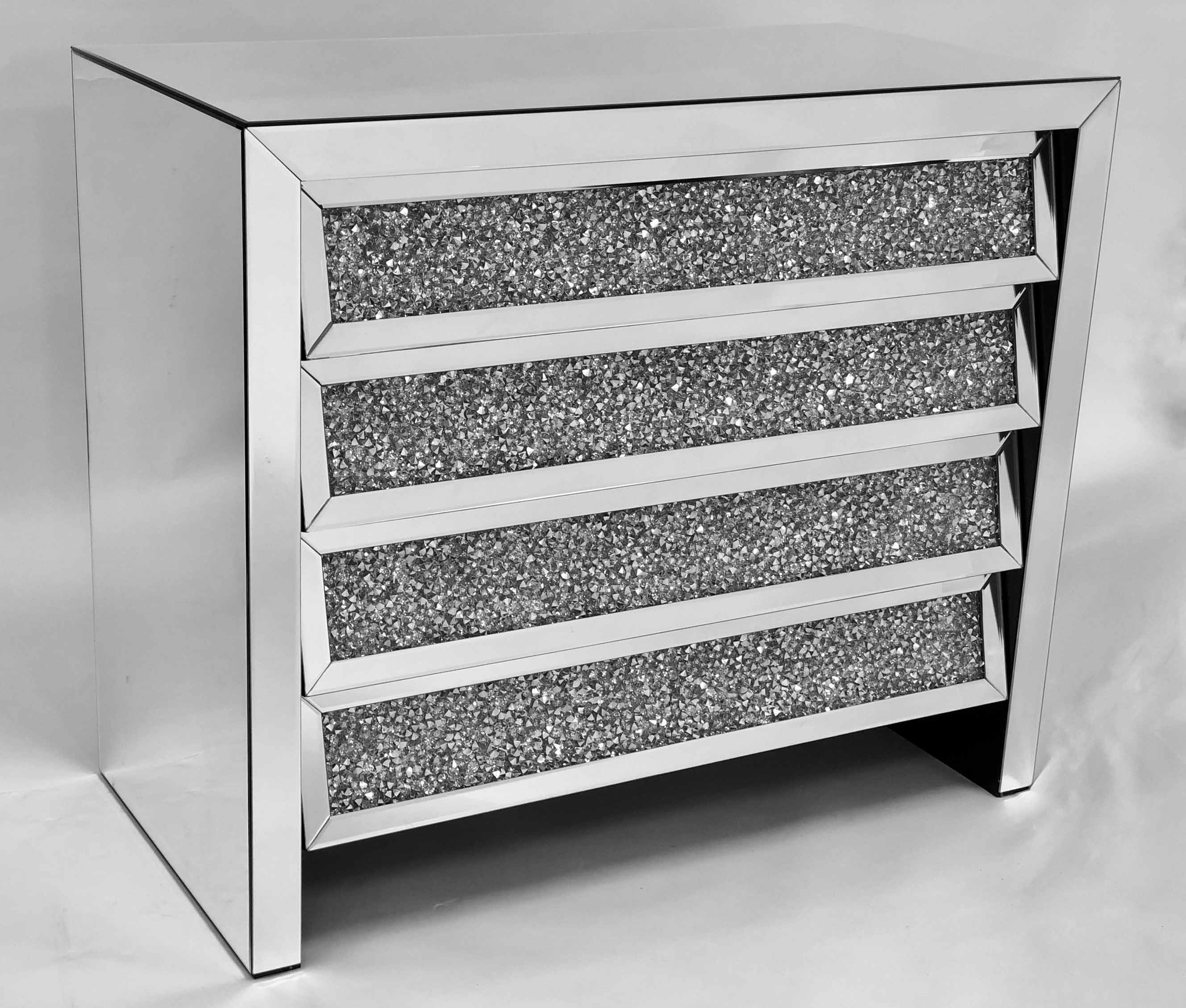 CRUSHED DIAMOND CHEST OF DRAWER