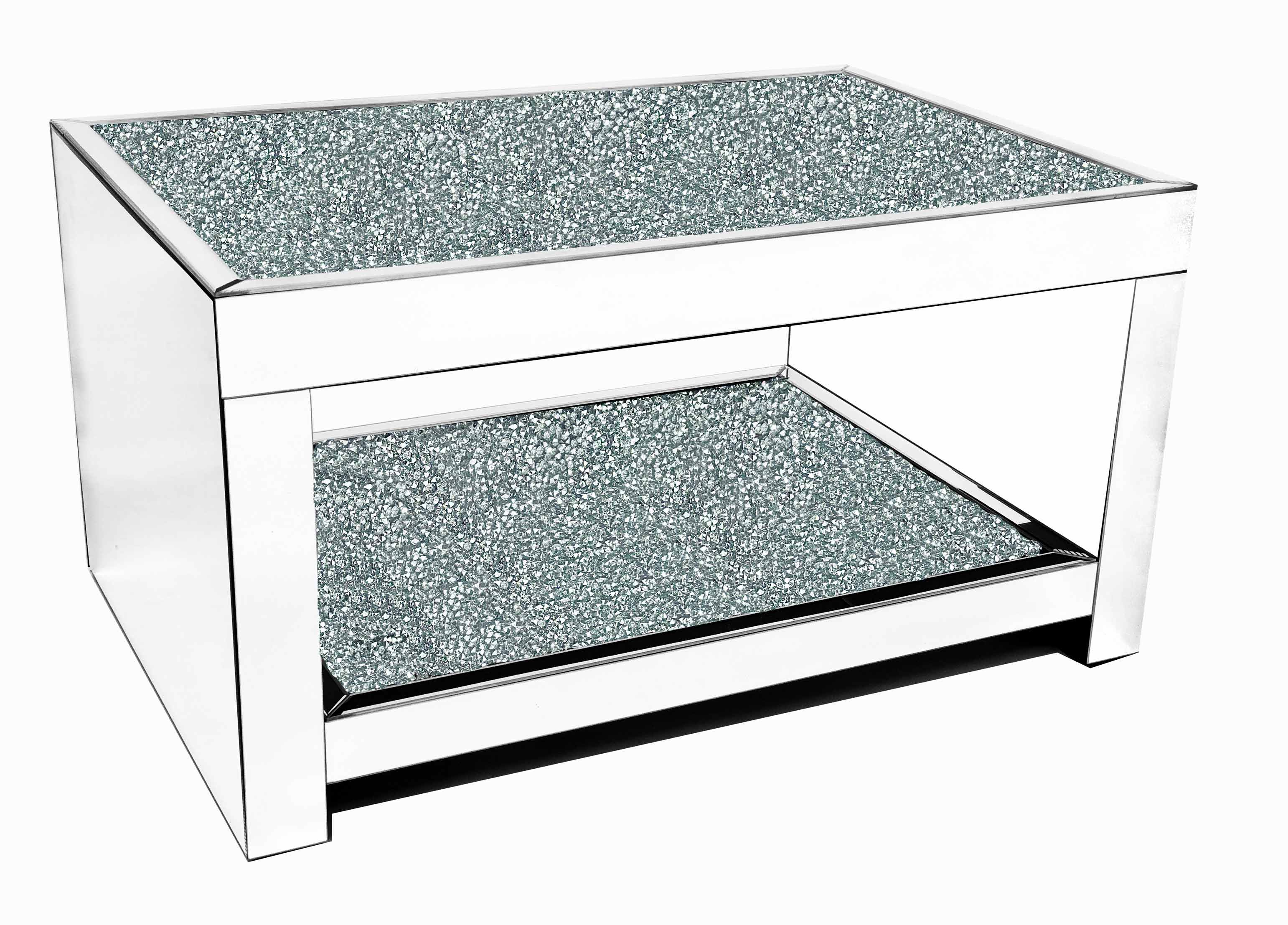 CRUSHED DIAMOND COFFEE TABLE