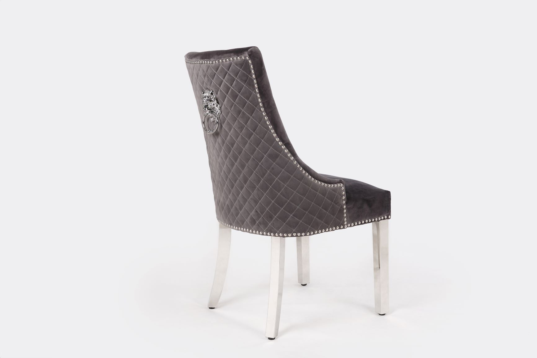 MAJESTIC DARK GREY VELVET DINING CHAIR