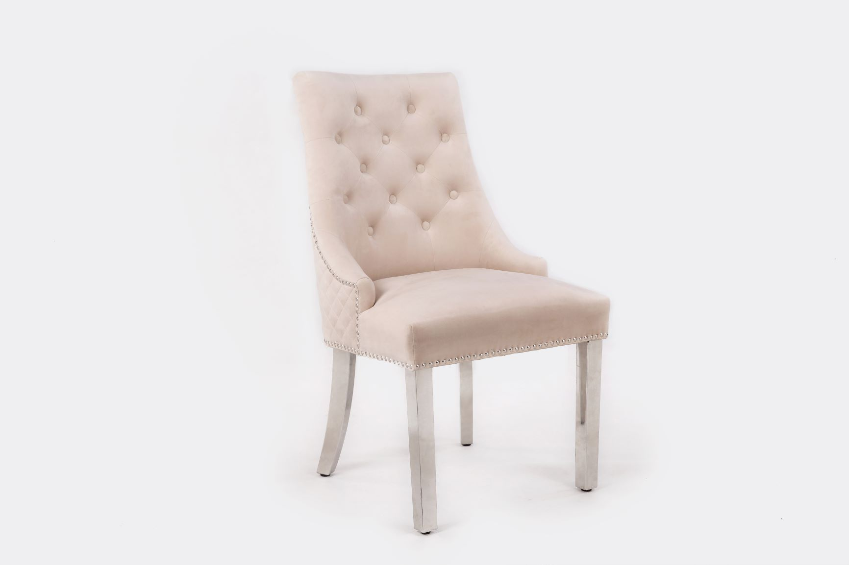 MAJESTIC MINK VELVET DINING CHAIR