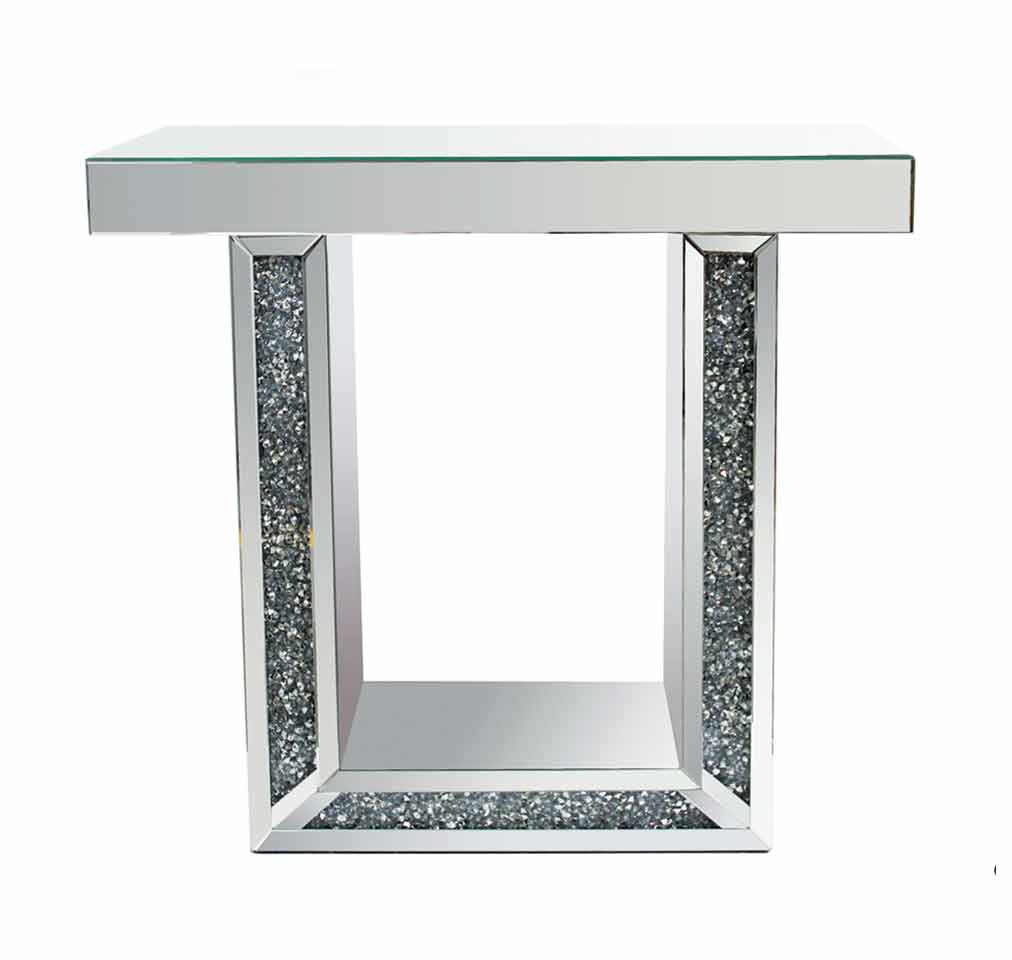 CRUSHED MIRRORED CONSOLE TABLE
