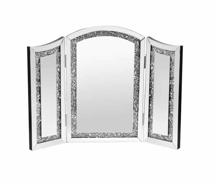 CRUSHED DIAMOND DRESSER MIRROR