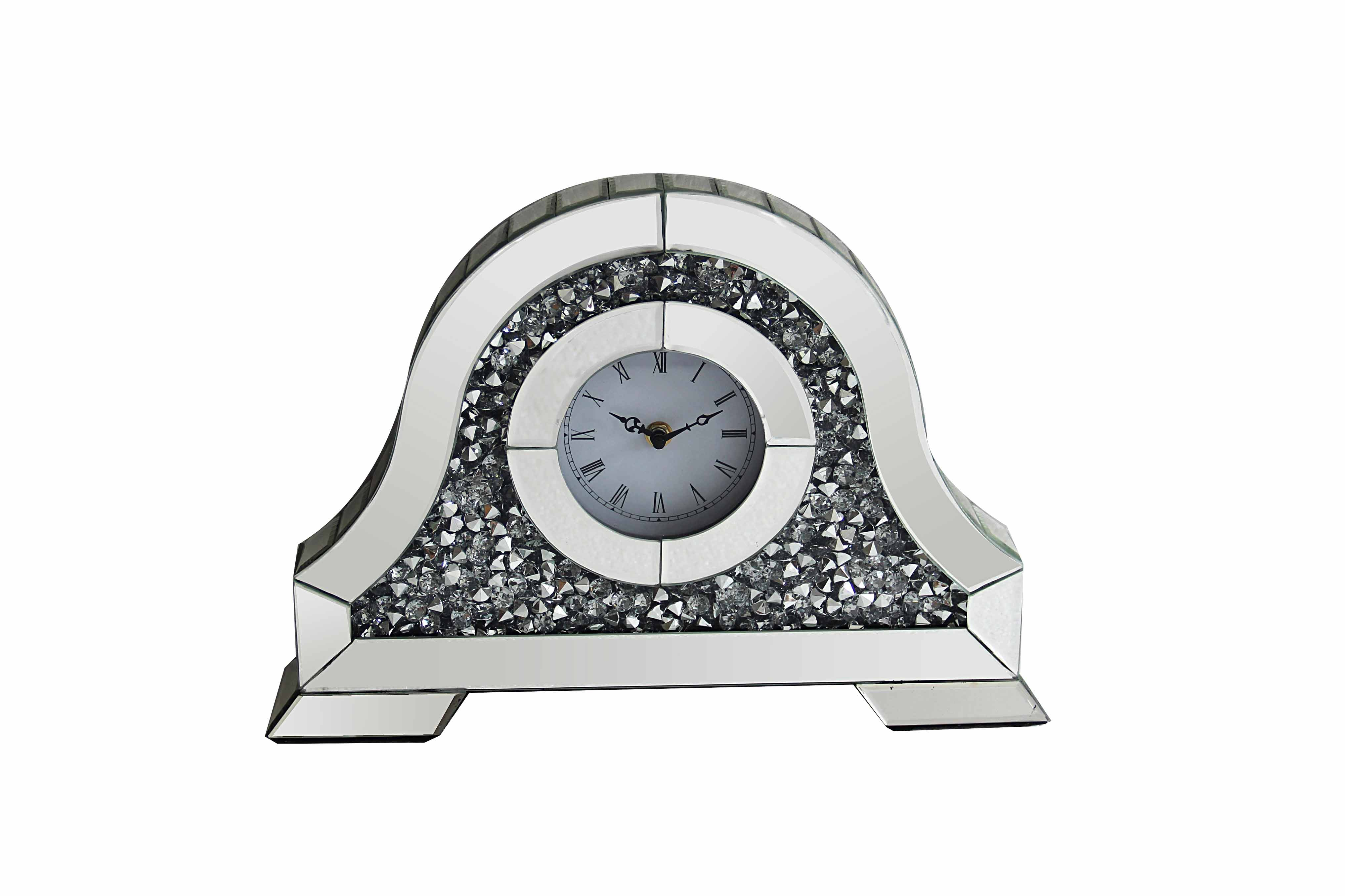 CRUSHED DIAMOND TABLE CLOCK