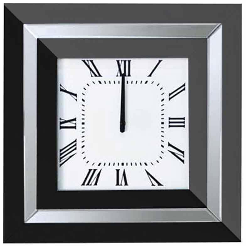 LONDON BLACK WALL CLOCK