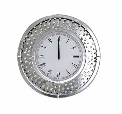 FLOATING CRYSTAL ROUND WALL CLOCK