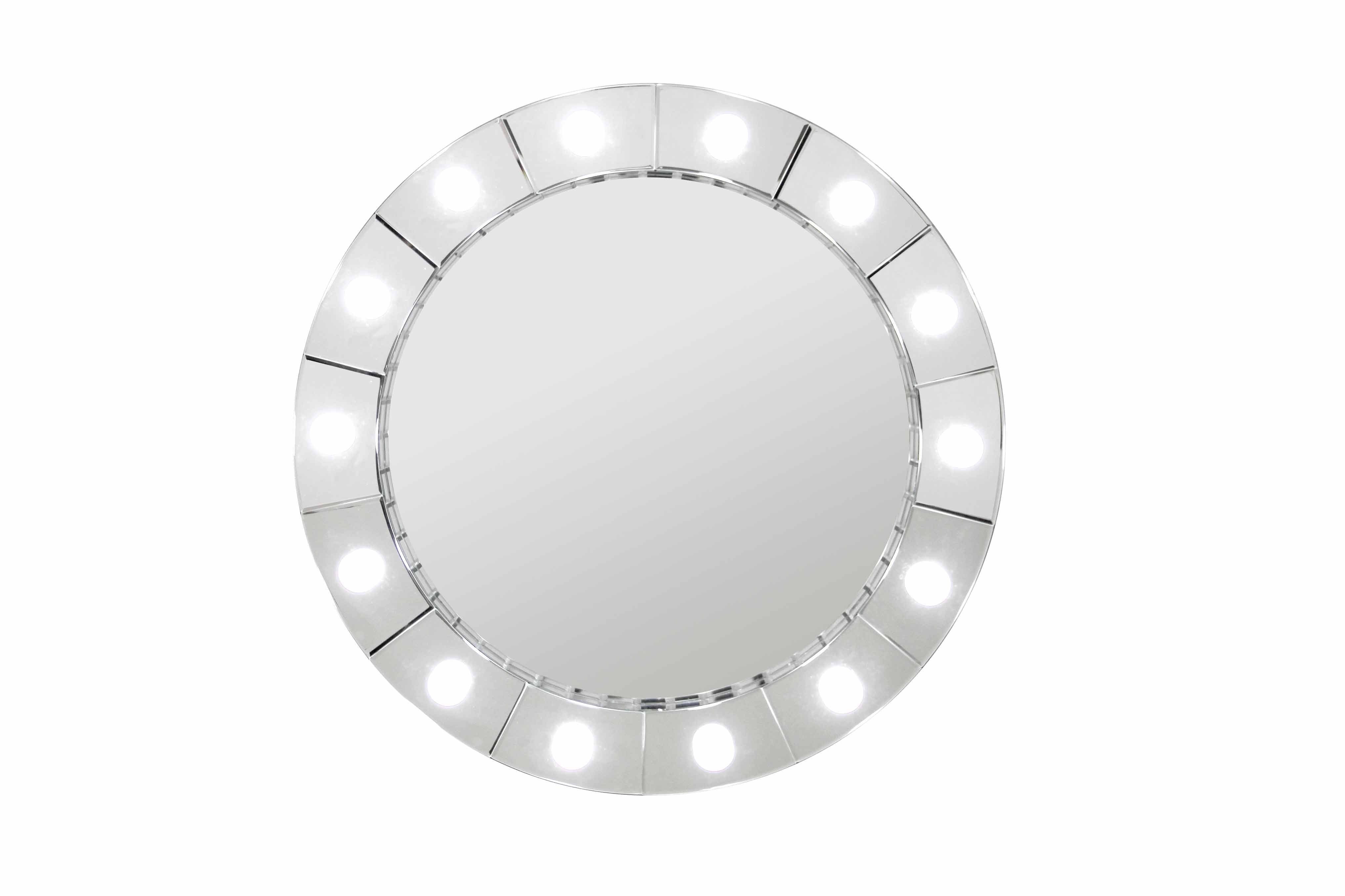 HOLLYWOOD ROUND MIRROR