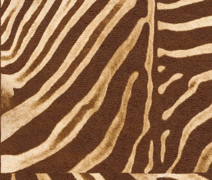 AFRICAN ZEBRA SKIN BROWN/CREAM