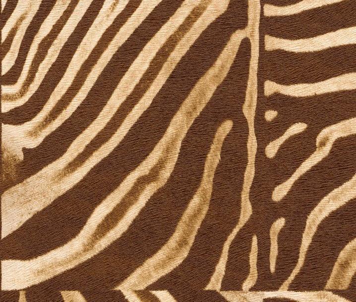 AFRICAN ZEBRA SKIN BROWN/CREAM