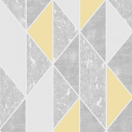 SUPERFRESCO MILAN GEO YELLOW WALLPAPER