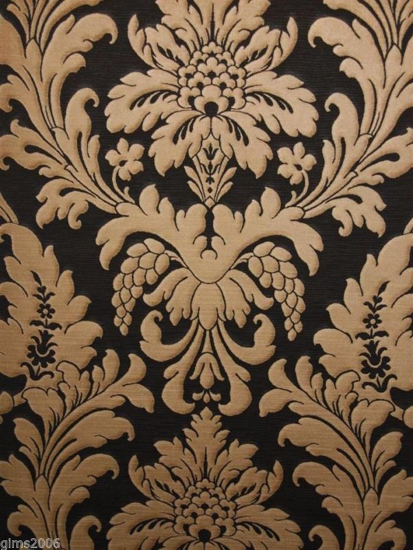 TRIANON BLACK/BRONZE DAMASK