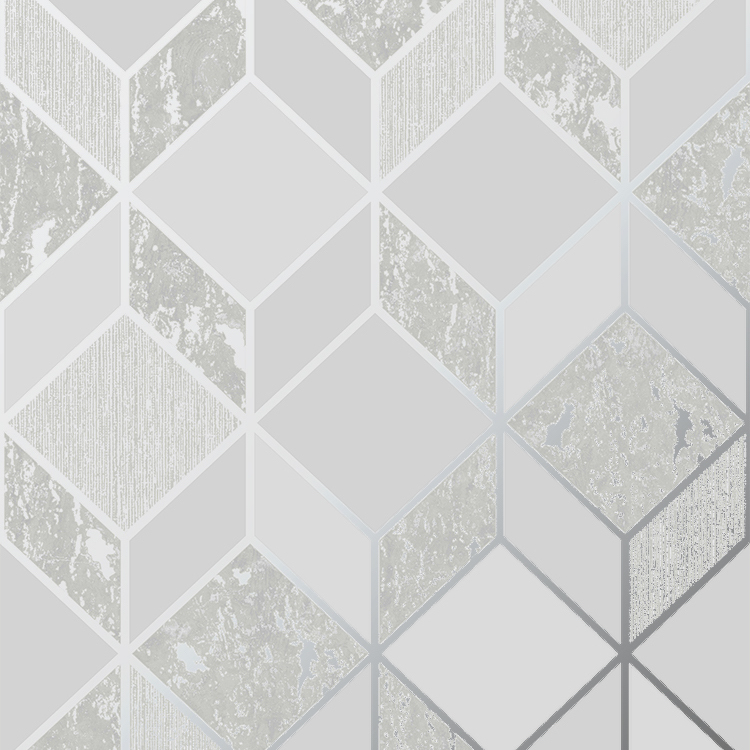 SUPERFRESCO VITTORIO GEO GREY SILVER WALLPAPER