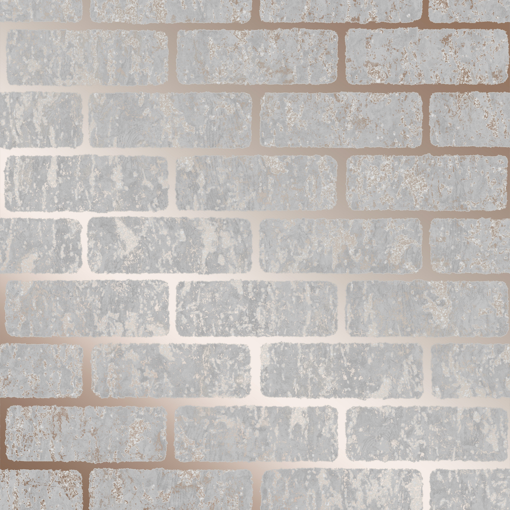 SUPERFRESCO MILAN BRICK ROSE GOLD WALLPAPER