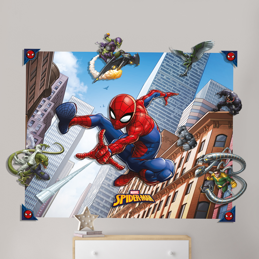SPIDERMAN 3D POP OUT WALL DECORATION