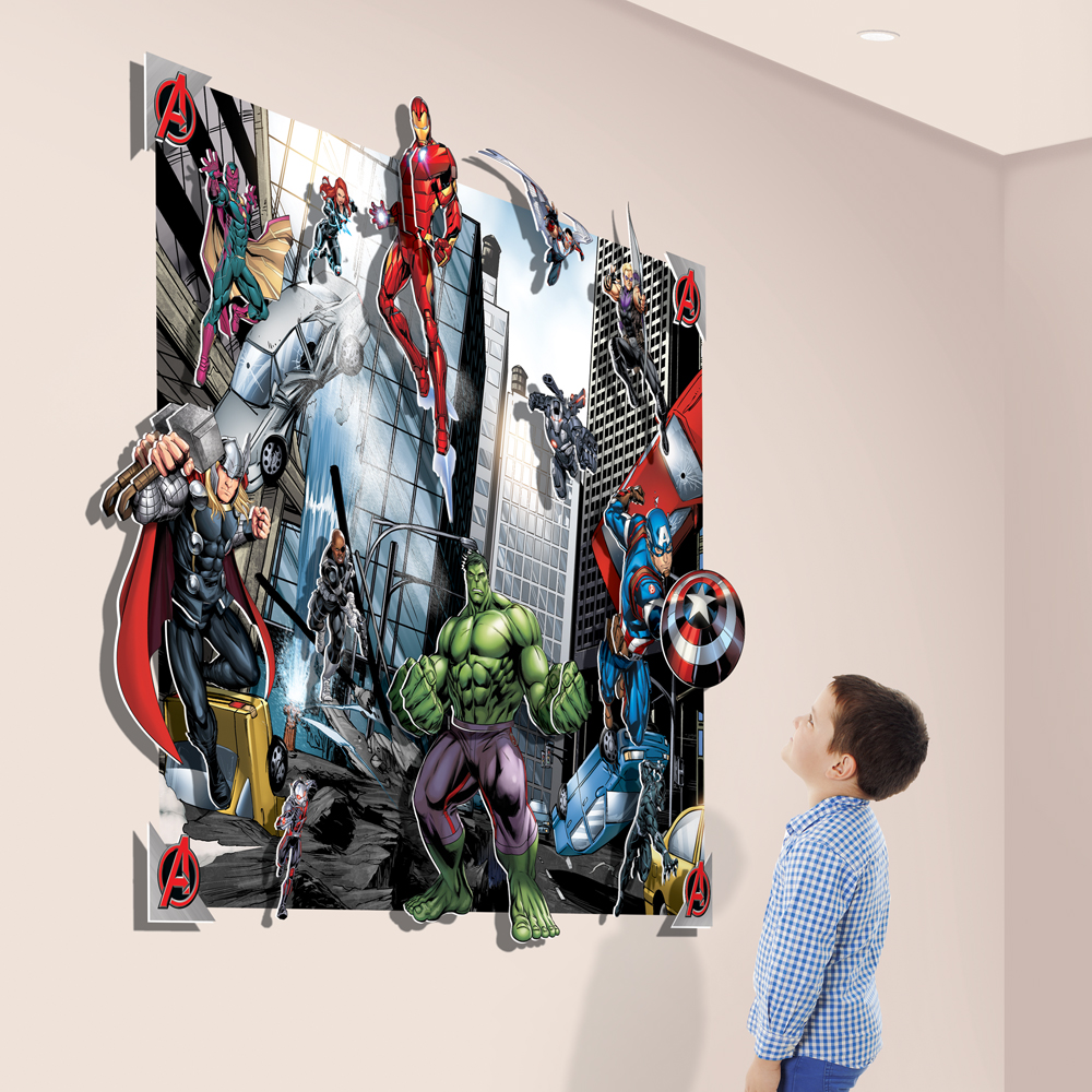 AVENGERS 3D POP-OUT WALL DECORATION