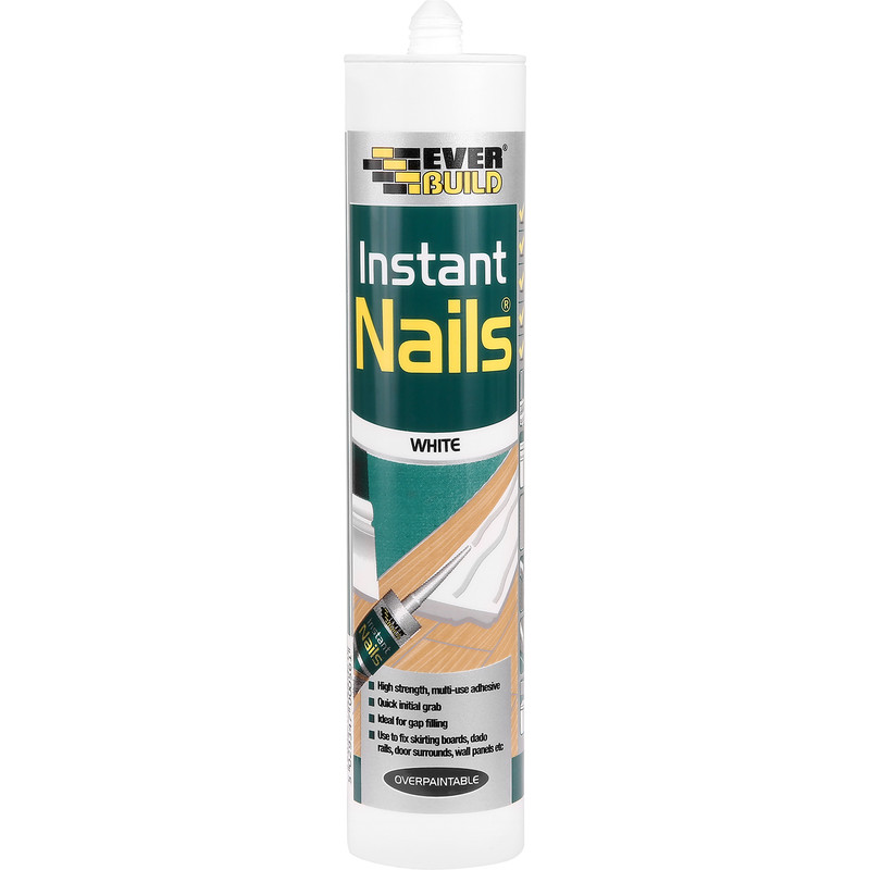 INSTANT NAILS SOLVENT FREE GRAB ADHESIVE 310ML WHITE