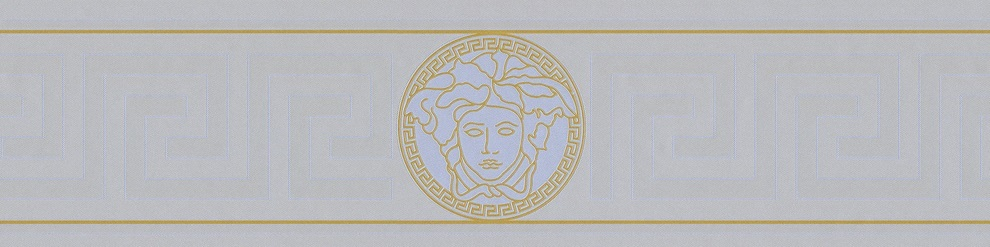 VERSACE GREEK VINYL SILVER BORDER
