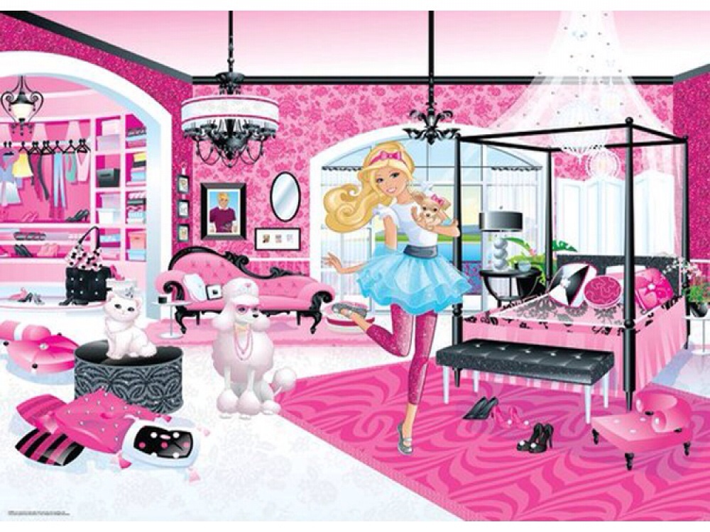 BARBIE WALLPAPER MURAL