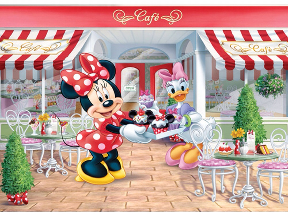 MINNIE MOUSE WALLPAPER MURAL