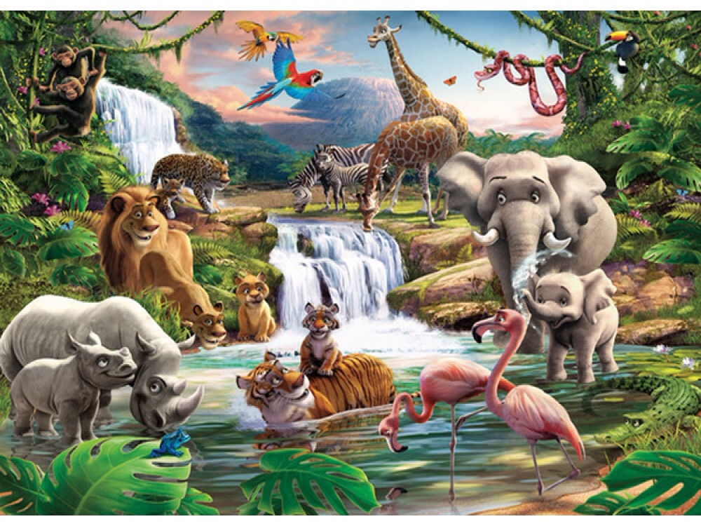 JUNGLE ADVENTURE WALLPAPER MURAL